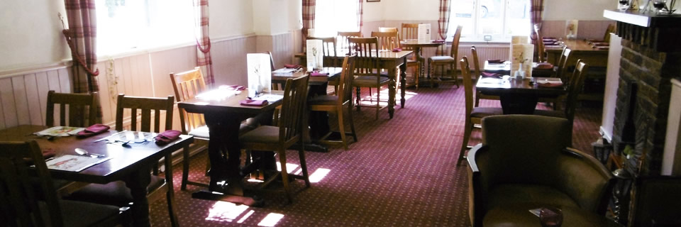 tables in the dining area